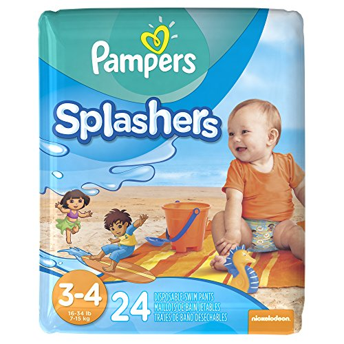 Pampers Splashers Disposable Swim Pants Size 3-4 24 ct