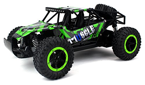 Muscle Baja Remote Control RC Truggy Truck Buggy 2.4 GHz PRO System 1:16 Scale Size RTR w/ Working Suspension, Spring Shock Absorbers (Colors May Vary)