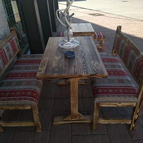 conjunto mesa de Madera Rustica turca y Dos Bancos: Amazon.es: Hogar