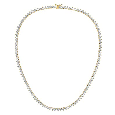 OPALTOP 18K Yellow Gold Plated CZ Tennis Chain Necklace Gift for Men Women  18 quot  cd928dda64