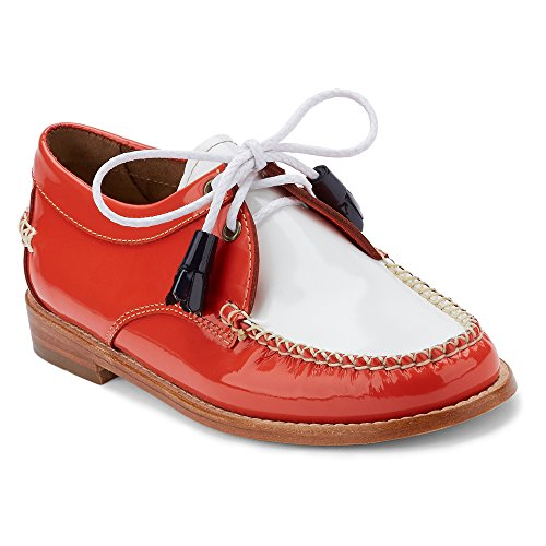 Poppy G Women's amp; 11sTfLP1aR H White Patent Tuxedo Bass Leather Winnie Loafer OqZw8IOxr