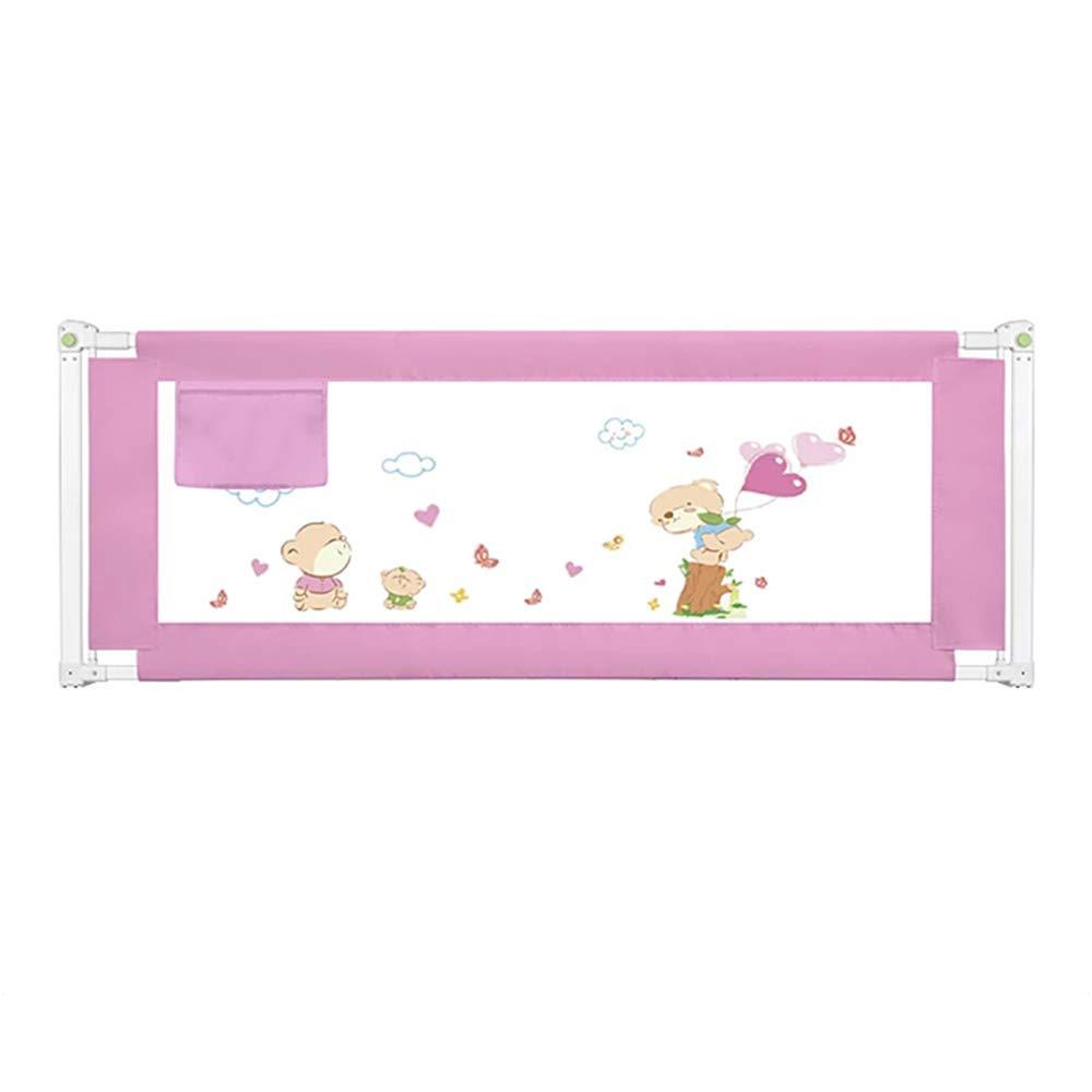 LHA ベッドガードフェンス 折りたたみベッドの塀の赤ん坊の落下防止塀の単一の側面の縦の上昇 (色 : Pink, サイズ さいず : L-200cm) L-200cm Pink B07MHLK1DH