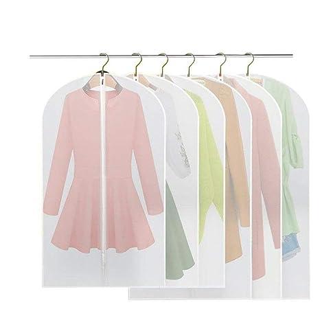Fundas de ropa, Felly 6 fundas de Transparentes Transpirables Bolsas Ropa Cubierta de Ropa con Cremallera para Trajes,Vestidos,Abrigos,Anti-polvo a ...