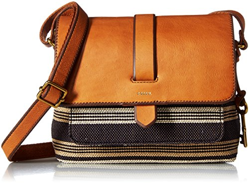 Fossil Kinley Small Crossbody Bag, Neutral Stripe,One Size