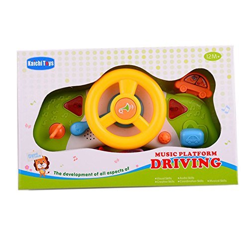 glowsol steering wheel toys for toddlers with music and light