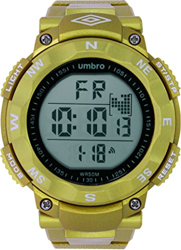 UMBRO UMB-01-5 Unisex ABS Gold Band, ABS Bezel 50mm Case Digital MIYOTA 2025 Electronic Precision Movement Water Resistant 5 ATM Sport - Mark Shades Jacobs