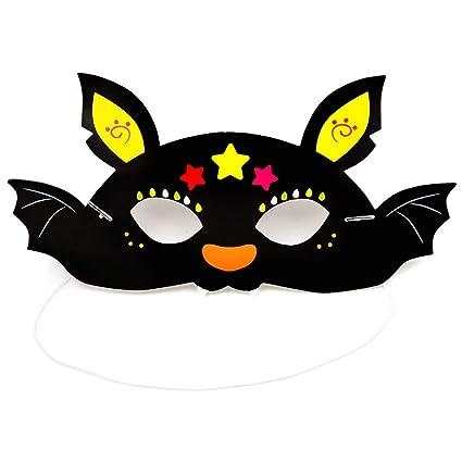 Spaufu - Máscara de Halloween con diseño de dibujos animados para niños y niñas, accesorio
