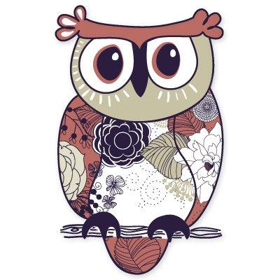 Owl Cute Vinyl Sticker - Car Phone Helmet - SELECT SIZE ()