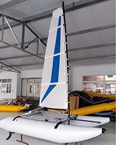 Inflatable 1.2mm PVC 13ft. 2 Person Portable Sailboat Windsurfing Catamaran New