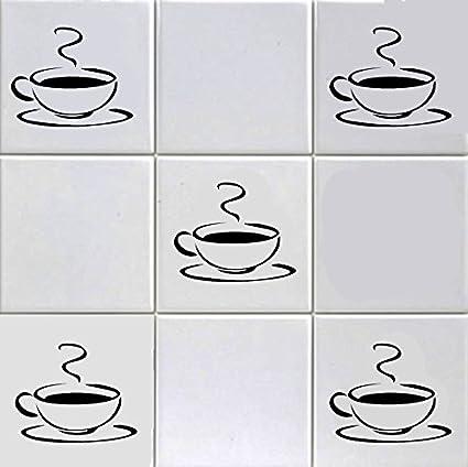 12 adesivi per piastrelle, con disegno di tazzine da caffè, per ...
