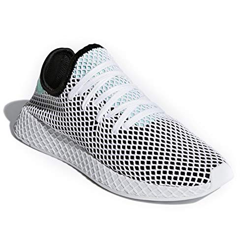 adidas Mens Deerupt Runner Casual Shoes (6 M US, Core Black/Easy Green/Cloud White)
