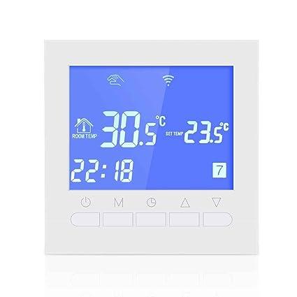 Elenxs Controlador de temperatura eléctrico Planta de calefacción termostato programable LCD inteligente WIFI