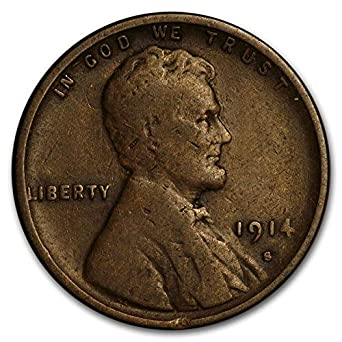 1914 S Lincoln Wheat Cent 1c Fine or Better Quality
