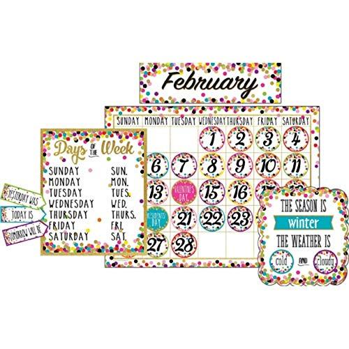 Confetti Calendar Bulletin Board Display Set by Online Discounts Gifts ()
