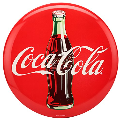 Collectible Metal Buttons - Open Road Brands Coca-Cola High-Gloss Metal Button Sign