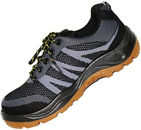 安全靴・作業靴 メンズアウトドアハイキングシューズメッシュ通気性ローウエスト薄いセクション滑り止めレースアップカジュアルシューズ快適なスポーツランニングシューズ (色 : Gray, サイズ さいず : 43)