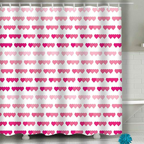 - Xunulyn Beach Shower Curtain Colored Heart Background Valentine s Day Elegant Festive Symbols Tenderness Love Wallpaper Heart Geometric Fabric Bathroom Decor 60 X 72 Inch