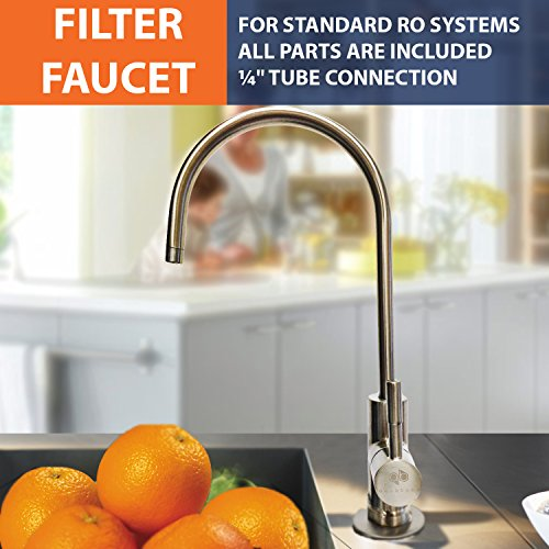Water Filter Purifier Faucet European Style Brushed Nickel (Filtered Drinking Water Faucet compare prices)