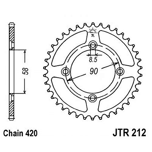 14-19 HONDA Grom: JT Steel Rear Sprocket (420 / 34T) (Standard) ()