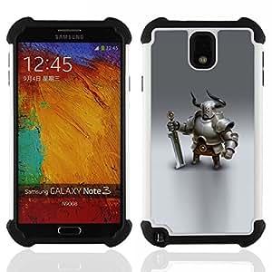 - Viking knight swordsman cgi graphics/ H??brido 3in1 Deluxe Impreso duro Soft Alto Impacto caja de la armadura Defender - SHIMIN CAO - For Samsung Galaxy Note3 N9000 N9008V N9009