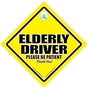 Caution elderly driver car sign car sign with suction cup caution elderly driver