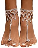 Bienvenu Women Barefoot Sandals Beach Foot Jewelry Wedding Chain,Sliver_2