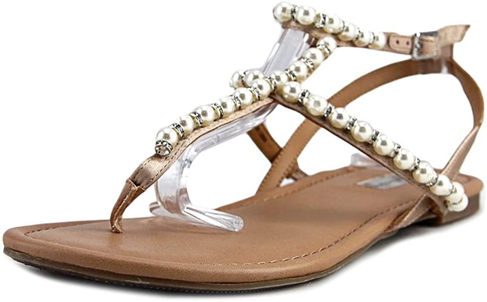 0e3692beedd INC International Concepts Womens Madigane Split Toe Casual Slingback  Sandals Beige Pearl Size 6.0 M US