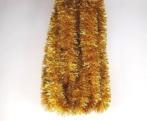 Cascade Gold Garland for Banisters, Mantles, Doors and More 3.5