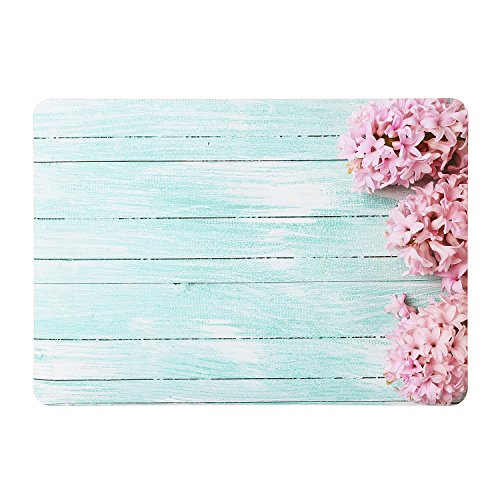 iDonzon Hyacinths Turquoise Wooden MacBook Pro 13 inch Case 2017&2016 Release A1706/A1708, Soft-Touch Matte Plastic Hard Protective Case Cover for Newest Pro 13 with/without Touch Bar and Touch ID