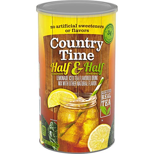 - Country Time Flavored Drink Mix, Half Lemonade Half Iced Tea (5 Pound 2.5 Ounce Canister)