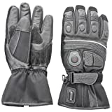 Venture Heat 12V Heated Motorcycle Gloves (Black, Large)