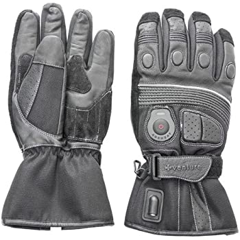 Venture Heat 12V Heated Motorcycle Gloves (Black, Small)