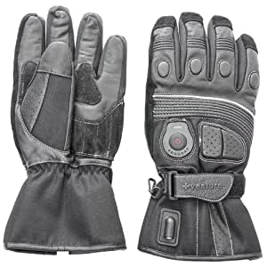 Venture Heat 12V Heated Motorcycle Gloves (Black, X-Small)