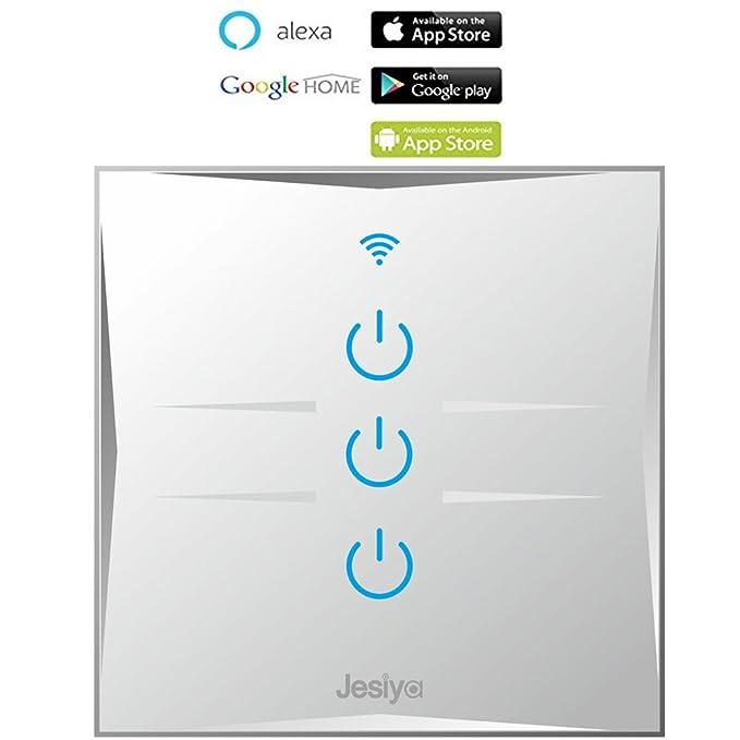 2 opinioni per Interruttore da remoto smart home WIFI con pannello di vetro touch sensitive,