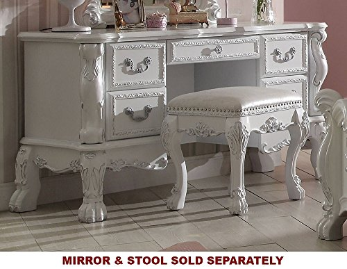 Acme Furniture ACME Dresden Antique White Vanity - Vanity French