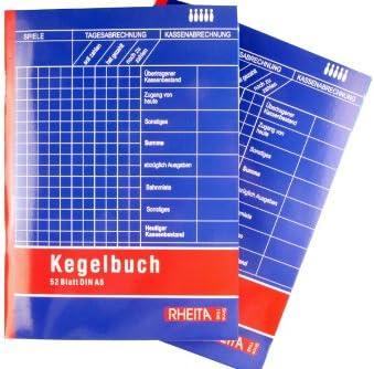 5 Kegelbücher Kegelbuch DIN A5
