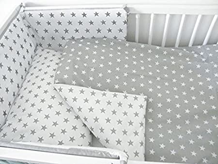 6 Piece Baby Children Bedding Set to Fit 120x60 or 140x70 cm Toddler Cot Bed to fit 140 x 70 cm Cot Bed, 25