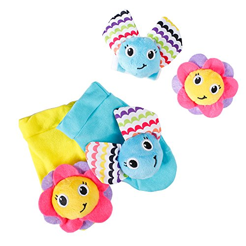 Purchase Daisy 4 Packs Adorable Animal Infant Baby Wrist Rattle & Foot Finder Socks Developmental To...