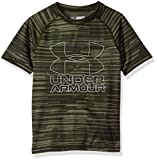 Under Armour Boys Big Logo Printed T-Shirt,Downtown Green /Overcast Gray, Youth X-Small