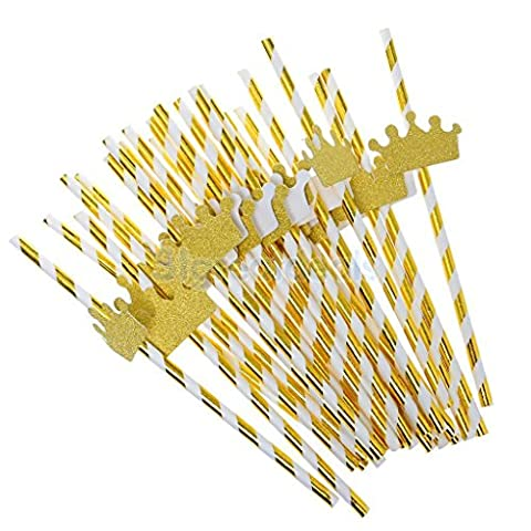 AMAZZANG-25Pcs Cute Golden Funny Beach Party Cocktail Juice Drinking Straws Party Décor (golden - Seattle Seahawks Disc