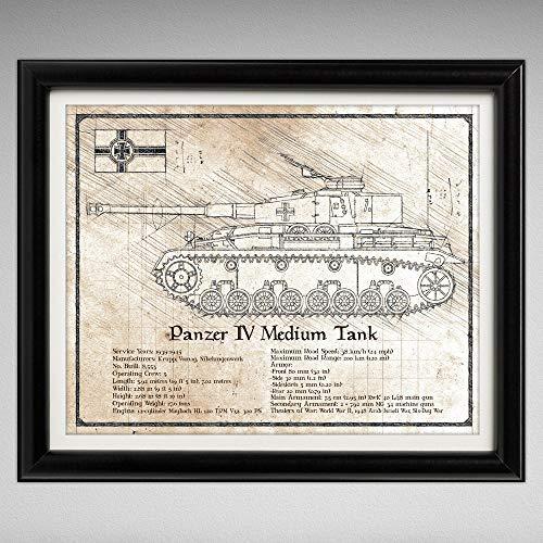 Panzer IV (Panzerkampfwagen) MediumTank - Da Vinci Illustration - 8x10