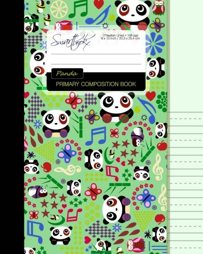 Primary Composition Book: Creative Writing/Handwriting Journal [ D'Nealian Ruled * Large Notebook * Times Tables * Pandas, Butterflies & Owls ] (Primary Composition Books - Kids 'n' Teens) ()