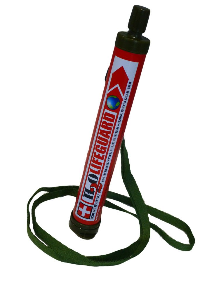 H2O SURVIVAL-H2OLIFEGUARD-99.9999% Water Filter Straw- Purifier of Bacteria/Heavy Metals & Viruses for Travel/Camping/Hiking. 530 Gal.Capacity- Exclusive 0.01 micron Membrane/GAC-Poly-Iodine filters.