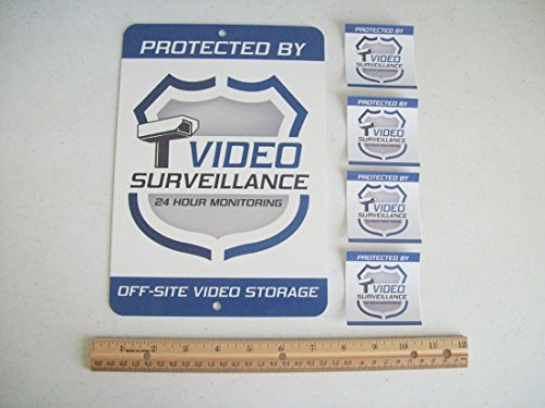 1pcs Yard Sign and 4pcs Window Security Stickers Video Surveillance System