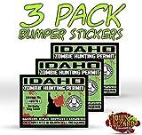 """Idaho Zombie Hunting Permit"" Funny Bumper or Window Sticker"