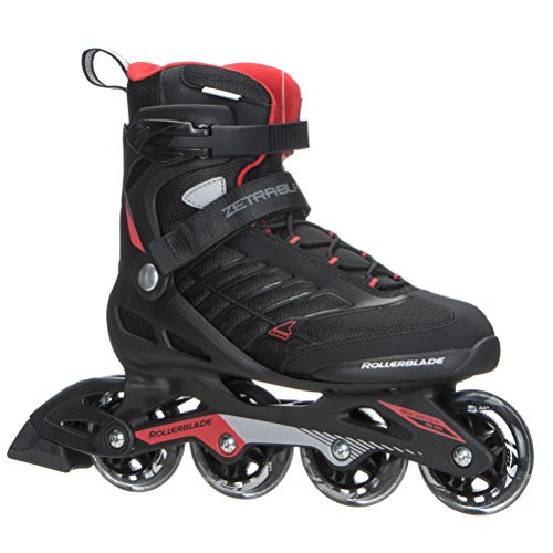 Rollerblade Zetrablade Skate - 4x80mm/84A Wheels - SG 5 Performance Bearings - Black/Red - US Men's 12 (30.0) ()