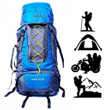 TRAWOC 60L Water Proof Travel Backpack for Outdoor Hiking Trekking - HK002 Blue ( 1 Year Warranty )