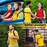 GlamyKings Posture Corrector for Women & Men - Adjustable Posture Brace for Clavicle Support and Upper Back Correction