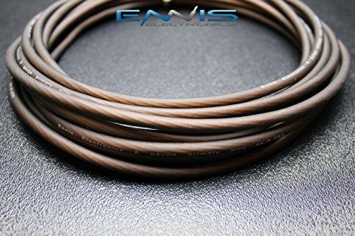 8 GAUGE WIRE 100 FT BLACK AWG MATT CABLE BY ENNIS ELECTRONICS SUPER FLEX POWER GROUND STRANDED CAR SOLAR AUTOMOTIVE -