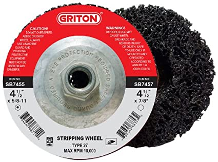 Griton SB7455 Industrial Type 27 Abrasive Stripping Wheel, 4